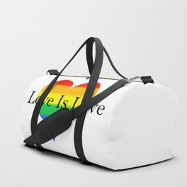 Love Is Love Rainbow Pride Heart Duffle Bag