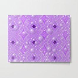 Purple Pattern Merry christmas Metal Print