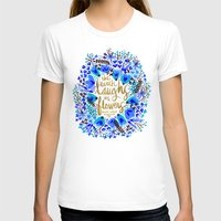 waldo T-shirts featuring The Earth Laughs in Flowers – Gold & Blue by Cat Coquillette