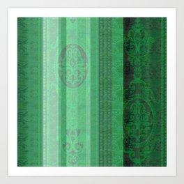 Boujee Boho Emerald Green Tapestry Print Art Print