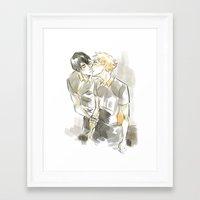 volleyball Framed Art Prints featuring volleyball kiss by Puckboum