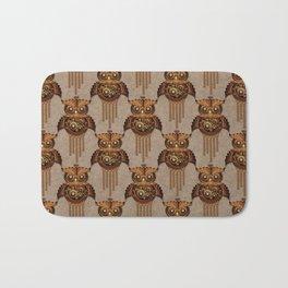 Steampunk Owl Vintage Style Bath Mat