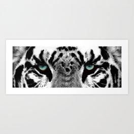 Dressed To Kill - White Tiger Art By Sharon Cummings Art Print