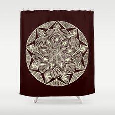 Maroon Mandala Shower Curtain