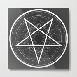 Baphomet Pentagram Star - Satanic sign Metal Print
