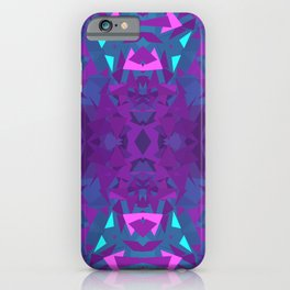 Pink, Purple, and Blue Triangles 2 iPhone Case