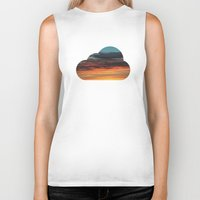 clouds Biker Tanks featuring CLOUDS by Dr. Lukas Brezak