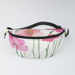 Pink summer flowers Fanny Pack
