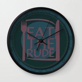 Eat The Rude (Navy) Wall Clock