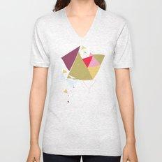 Exploding Triangles//Four Unisex V-Neck