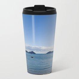Chilling on the beach in Oamaru Bay, Coromandel Travel Mug