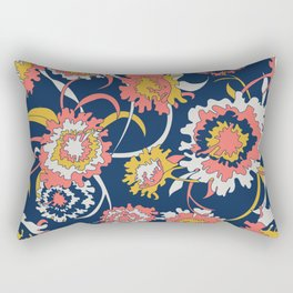 Bold Chinoiserie Floral - Limited Color Palette 2019 Rectangular Pillow
