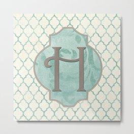 Spa Monogram Metal Print