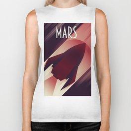 Mars Starship space art Biker Tank