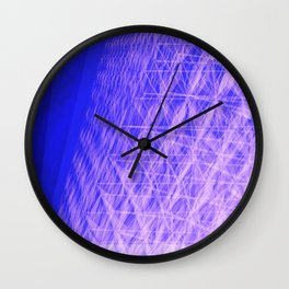 Glitch Abstract Architecture Wall Clock