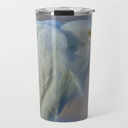 White Egret by Reay of Light Travel Mug