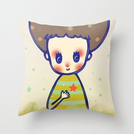 the little star in my heart Throw Pillow