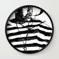 kendrick lamar Wall Clocks featuring Kendrick Lamar by Paganimal