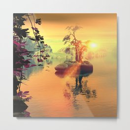 Awesome golden sunset  Metal Print