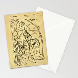 Mobile Space Suit Support Patent Drawing From 1956 Stationery Cards
