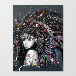 INDIAN--GIRL Canvas Print