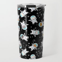 Astronaut Space Cats With Constellations Travel Mug