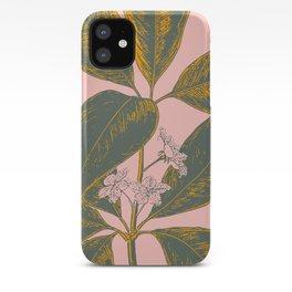 Modern Botanical Banana Leaf iPhone Case