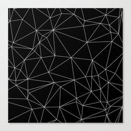 Geometric Black and White Minimalist Pattern Canvas Print