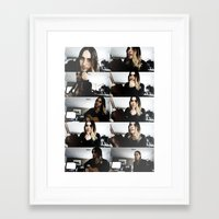 jared leto Framed Art Prints featuring Jared Leto by The Fashion Graphic
