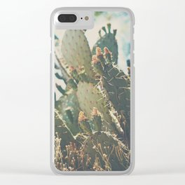 desert prickly pear cactus ... Clear iPhone Case