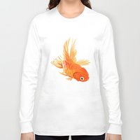 goldfish Long Sleeve T-shirts featuring Goldfish by Ty Foley