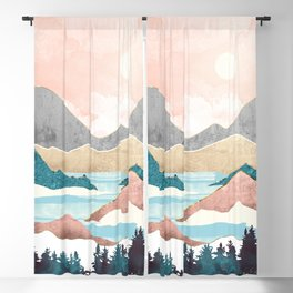 Lake Sunrise Blackout Curtain