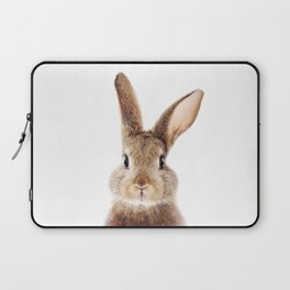 Baby Rabbit, Brown Bunny, Baby Animals Art Print By Synplus Laptop Sleeve