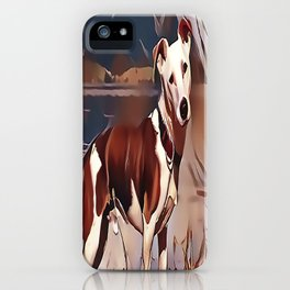 Hunting Dog by the Lake iPhone Case