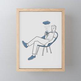 Drink away the gloomy day Framed Mini Art Print
