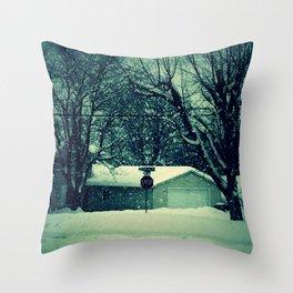 Stop snowing Throw Pillow