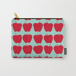 9 Apples (Pale Turquoise) Carry-All Pouch