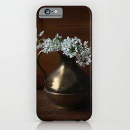 Bird Cherry in the vintage jar iPhone Case