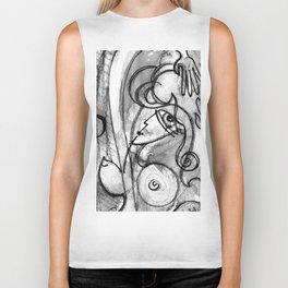 Abstract Nude Goddess No. 40K by Kathy Morton Stanion Biker Tank