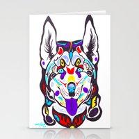husky Stationery Cards featuring Husky  by PastelxPalette