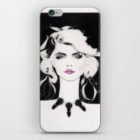 blondie iPhone & iPod Skins featuring Blondie by Christopher Morris