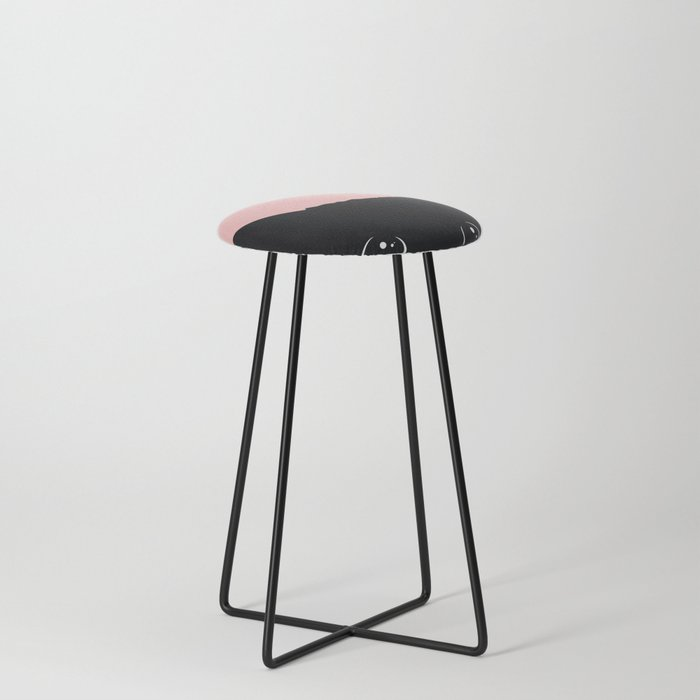 Black Cat Counter Stool