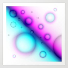 Bubbles Abstract Background G114 Art Print