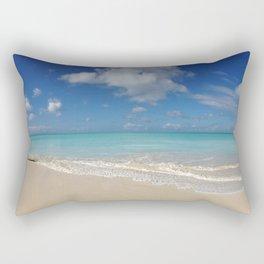 Antigua & Barbuda - White Sand & Turquoise Water - Panoramic Rectangular Pillow