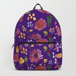 Botany floral pattern design (purple) Backpack
