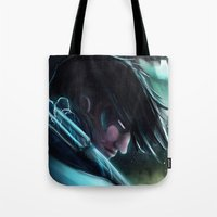 nightwing Tote Bags featuring Nightwing by Nicole M Ales