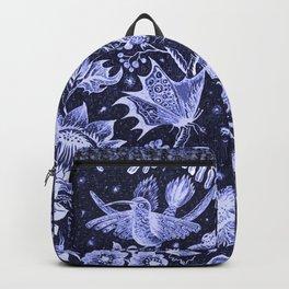 Violet Night Nature Scene Backpack