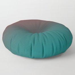 Ombre Quetzal Green Dark Red Pear Gradient Pattern Floor Pillow