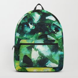 Yellow, Blue and Green Abstract Painting Backpack