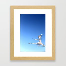Sweet Ballerina up in the sky with a cloud tutu Framed Art Print